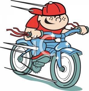 Cartoon_Freckle_Faced_Mischievous_Boy_Wearing_a_Red_Hat_Riding_a_Blue_Bike_Very_Fast_Royalty_Free_Clipart_Picture_101114-044830-632053