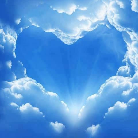 heart clouds rays